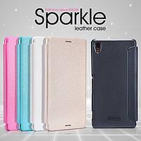Кожаный чехол Nillkin Sparkle для Sony Xperia Z3 D6603 (5 цветов)