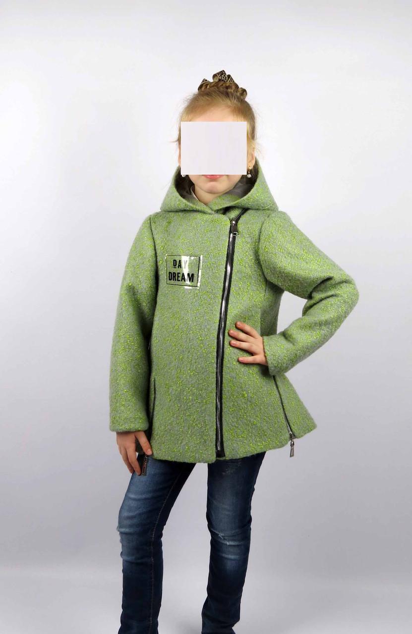 Пальто весна-осень код 588 размер 122-140 (6-10 лет) цвет зел, фото 2