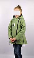 Пальто весна-осень код 588 размер 122-140 (6-10 лет) цвет зел, фото 1