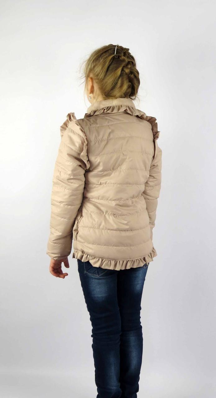 Куртка весна-осень код 572 размер 116-134 (5-9 лет) цвет бежевый, фото 3