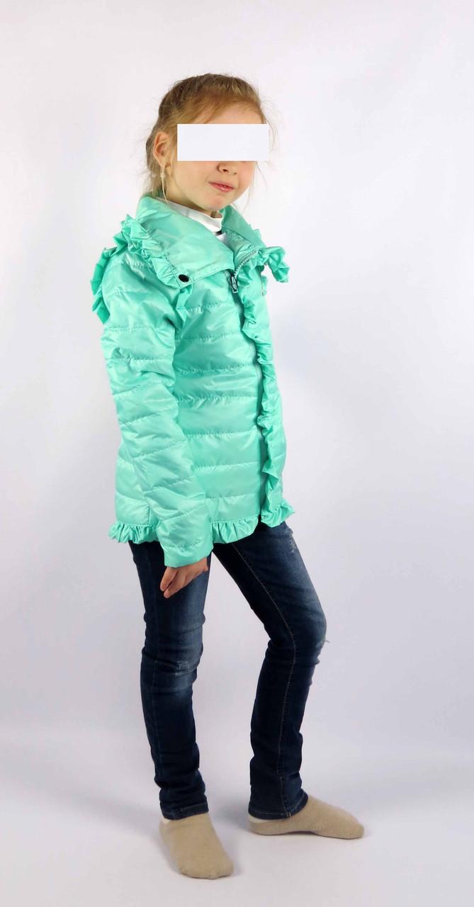 Куртка весна-осень код 572 размер 116-134 (5-9 лет) цвет мята, фото 1