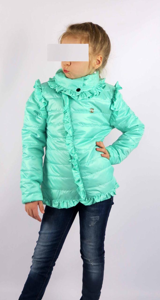 Куртка весна-осень код 572 размер 116-134 (5-9 лет) цвет мята, фото 2