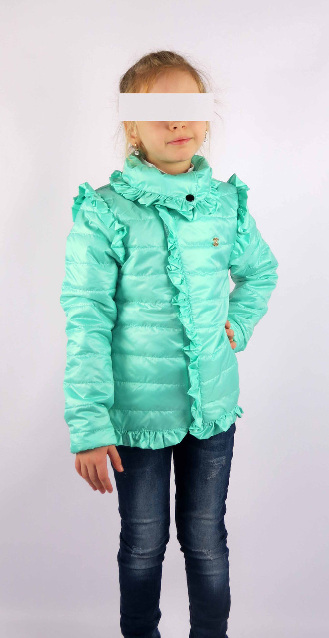 Куртка весна-осень код 572 размер 116-134 (5-9 лет) цвет мята, фото 3