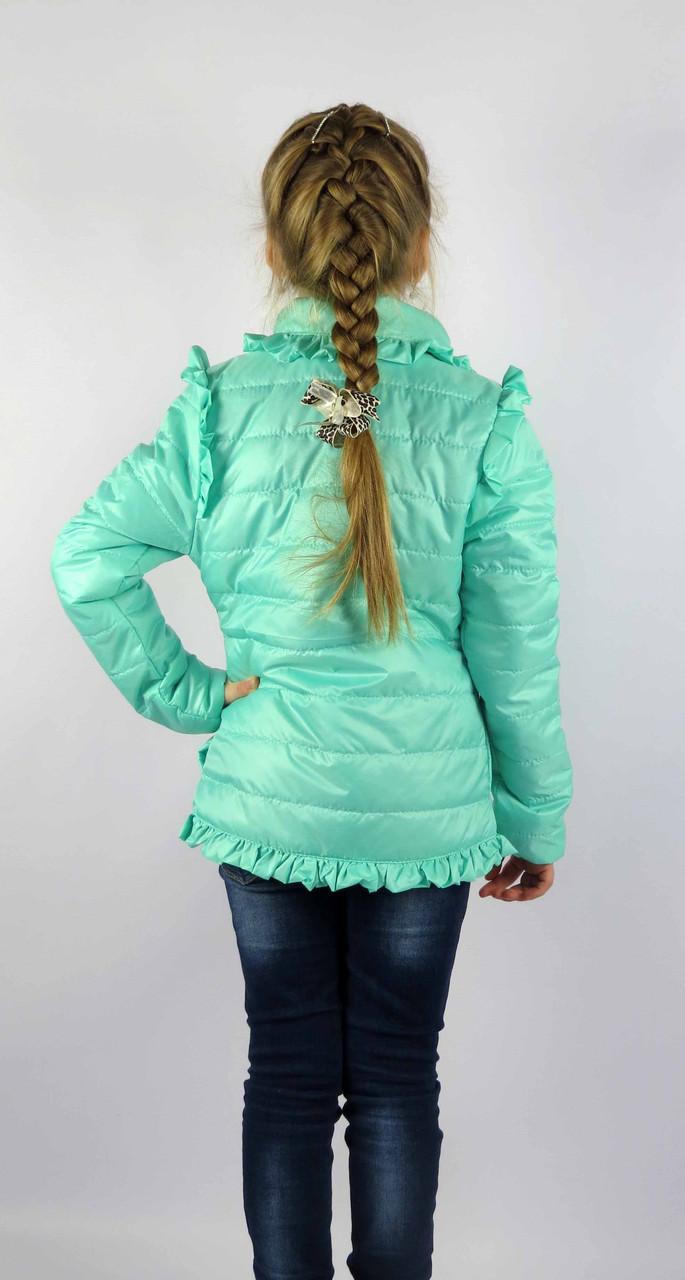 Куртка весна-осень код 572 размер 116-134 (5-9 лет) цвет мята, фото 4