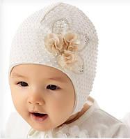 Весенне-летняя шапочка для девочки на завязках Твой букетик, Marika (Польша)