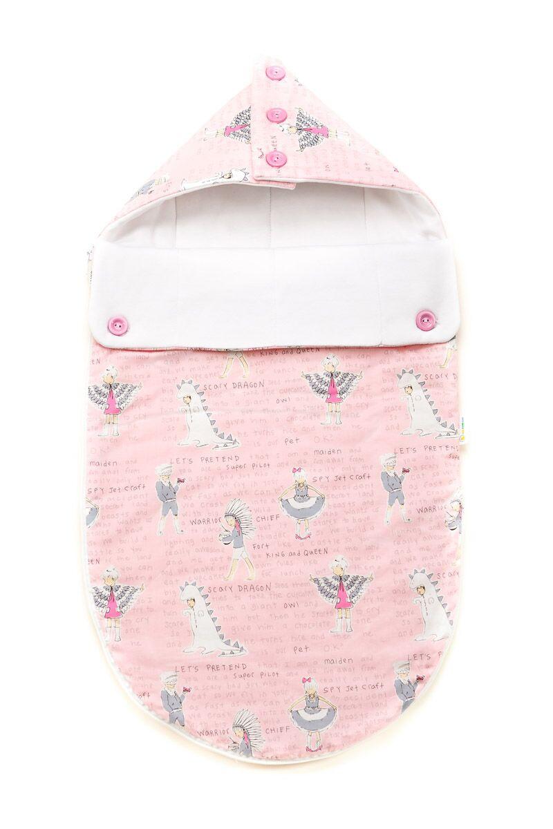 Зимний конверт-кокон для младенцев «Розовые индейцы», GoforKid