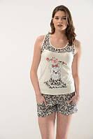 Комплект женский из трикотажа майка с шортами