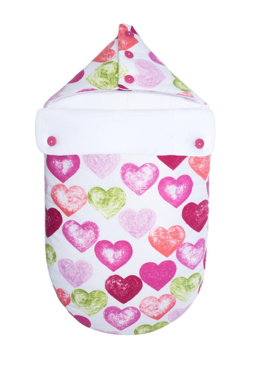 Зимний конверт-кокон для младенцев «Настоящая любовь» (Розовый, фланель), GoforKid