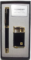 Подарочный набор HONEST: зажигалка + ручка