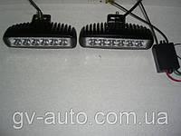 Фары дальнего (рабочего) света   LED 2218-18W-А  со стробоскопом (комплект), фото 1