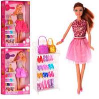 Кукла DEFA 8316 (12 пар обуви, сумочки, расческа)