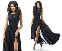 Платье женское гипюровое длинное