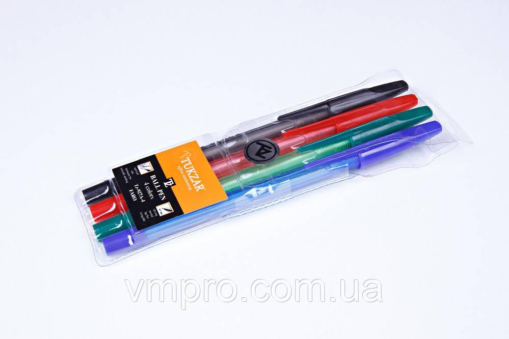 Набор шариковых ручек Tukzar TZ-927-А-4,0.7 mm,разные цвета 4 шт.