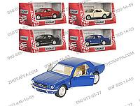 Машинка инерционная KT 5351 W, модель 1964 1/2 Ford Mustang, Kinsmart, металл, 13 см, 1:36, открываются двери