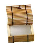 Натуральный солевой дезодорант Chandi, 80 г в бамбуковой шкатулке.