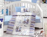 Комплект постельного белья для новорожденных Cotton Box Midilli Mavi