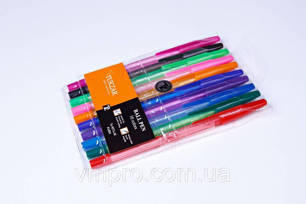 Набір кулькових ручок Tukzar TZ-927-А-10,0.7 mm,різні кольори 10 шт.