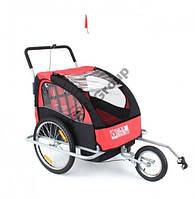 Туристический велотрейлер (велоприцеп) 2 пассажирский Jogger 2in1