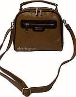 Женская сумка кросс-боди горчичного цвета