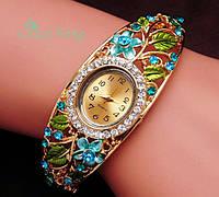 Наручные часы женские покрытие золото код 117 гол