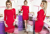 Платье с брошкой  в расцветках 16162