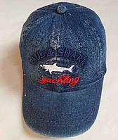 """Кепка подростковая джинсовая  """"Pall Shark"""". Размер  54-55 см. Синий. Оптом"""