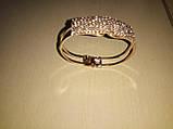 Женский браслет золотой с камушками, фото 3