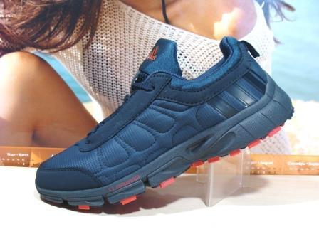 Термо кроссовки Adidas climawarm (реплика) сине-красные 45 р.