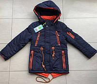 Куртка парка демисезонная  для мальчиков 128/134