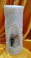 Свадебная свеча семейный очаг. Арка большая белая