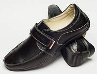 Мокасины детские подросток на липучке, подростковая обувь от производителя модель ДЖ-3739