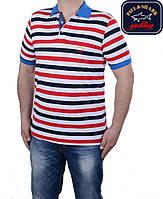 Футболка мужская Paul Shark в полоску,новая модель.