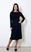 Красивое трикотажное платье Франческа с декоративным поясом 42-56 размер