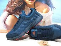 Термо кроссовки Adidas climawarm (реплика) сине-красные 44 р.