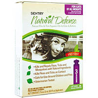SENTRY СЕНТРИ НАТУРАЛЬНАЯ ЗАЩИТА капли от блох и клещей для кошек всех пород и котят, 2 мл, 1 пипетка
