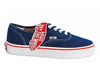 Кеды женские Vans Authentic Blue/Red Line джинсовые