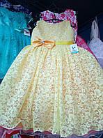 Красивое пышное ажурное платье с бантом