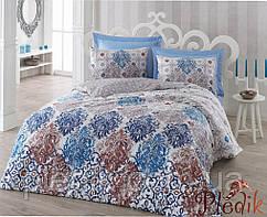 Набор постельного белья сатин печатный 200х220 Cotton box GONUL KAHVE