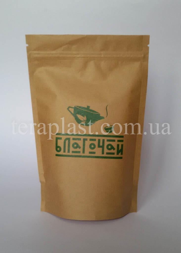 Пакет Дой-Пак крафт 50г 100х170 с печатью 1 цвет