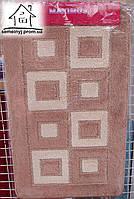 Набор ковриков для ванной комнаты 100*60 см  002