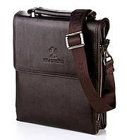 Мужская сумка Bradford 18688-1 из искусственной кожи на плечевом ремне размеры 16 см х 20 см х 5 см Коричневый