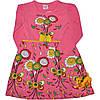 """Детское трикотажное платье """"Flovers"""" розовый"""