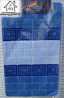 Набор ковриков для ванной комнаты 100*60 см  006