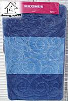 Набор ковриков для ванной комнаты 100*60 см  009