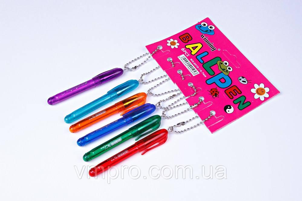 Ручки брелок шариковые Winning WZ-2010,синие,0.7 mm,6 шт/упаковка