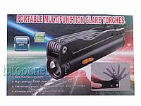 Фонарик аккумуляторный с инструментами Portable multifunction glare torches