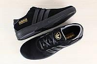 Мужские черные замшевые кроссовки Adidas