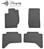 Ковры в автомобиль Мицубиси Паджеро Спорт 2011- Комплект из 4-х ковриков Черный в салон