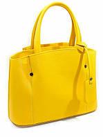 Сумка ярко-жёлтая кожаная женская 2600.