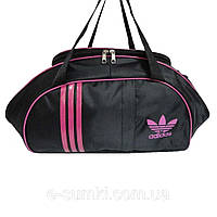 Спортивная сумка маленькая, черно-розовая (45х25х18 см), фото 1